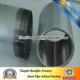 Filetage de tuyauterie galvanisé d'acier du carbone avec le couplage