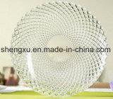 Kom & Plaat sx-014 van het Glas van het Kristal van de Diamant van 100% No-Lead Transparante