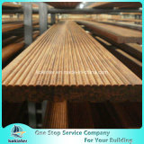 Sitio de bambú pesado tejido hilo al aire libre de bambú 9 del chalet del suelo del Decking