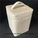Коробка ювелирных изделий подарка коробки хранения PU высокого качества Handmade