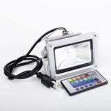 50W Waterproof a luz de inundação Ultrathin do diodo emissor de luz de 220V 110V RGB com o 24key de controle remoto
