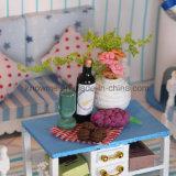 Дом куклы игрушки DIY нового малыша прибытий миниатюрная деревянная причудливый