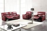 Le sofa de salle de séjour avec le sofa moderne de cuir véritable a placé (396)
