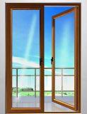 Porte en verre glacée de luxe de tissu pour rideaux en aluminium de qualité double (ACD-012)