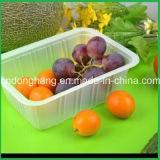 Vide en plastique de plat de récipient de boîte à fruit formant la machine