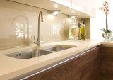 وحدات خزائن المطبخ عالية لامعة فوق البنفسجية باب تصميم صنابير المطبخ مع صنبور المطبخ أثاث خشبي الأزياء الحديثة خزائن المطبخ