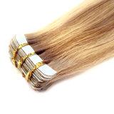 Fita no cabelo humano real das extensões do cabelo