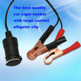 Alligator Clip와 Waterproof Cap를 가진 큰 Power Car Cigarette Lighter Socket