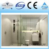 douche de salle de bains de 6-15mm avec la glace Tempered claire supplémentaire