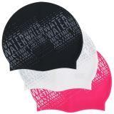 現代文字の水泳帽の防水水泳の帽子の男女兼用ポリウレタン