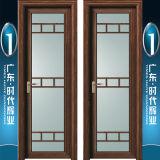 Porta de alumínio do Casement do teste padrão de vidro customizável do painel para o banheiro