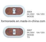 commutateur de mur de 6A 250V avec pour le marché de l'Amérique du Sud