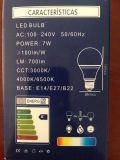 Ampoule AC100-240V 3000k/4000k/6500k E14/E27/B22 de DEL