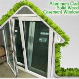 Ventana de aluminio del marco de la importación, roble sólido del estilo europeo/ventana de aluminio del marco de madera de la teca/de pino