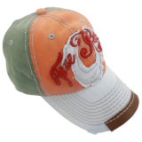 가죽 아플리케 Gjwd1715를 가진 세척한 야구 모자를 주문 설계하십시오