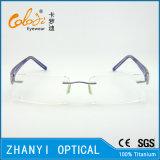 Leichter randloser Titanbrille Eyewear optische Glas-Rahmen mit Scharnier (5015)