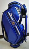 Bolsa de golfe OEM Professional PU Blue CB610 Caddy Golf Bag