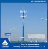 Torre de comunicación de la estructura de acero para la construcción