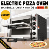 solide commercial du paquet 220V-240V de double d'acier inoxydable de four de traitement au four de la pizza 3000W
