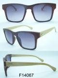 O frame F14067 quadrado com bambu arma óculos de sol