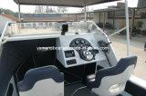 Barco de pesca superior duro de la aleación de la cabina del Cuddy