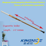 Long Telescopic Cigarette Holder Parte socio Golden 45cm