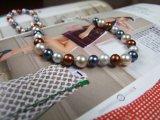 Moda Mujer Hermosa agua dulce collar de perlas (XL1001)