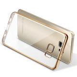 Chapeando o caso dourado de TPU para Samsung S7