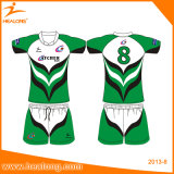 Chemise faite sur commande de pratique en matière de rugby de sublimation d'équipe de Healong
