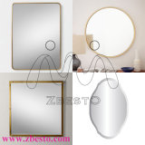 Зеркала серебра края домашнего декора Polished для ванной комнаты, спальни