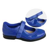 La comodidad de las mujeres calza los zapatos ocasionales anchura y profundidad adicionales de Mary Jane de los zapatos del Spandex para los diabéticos