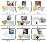 Rectangle Photoframe en verre avec le stand