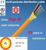 Cabo de fibra óptica da distribuição de múltiplos propósitos interna de 6 núcleos