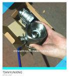 Vávula de bola roscada palanca del acero inoxidable 2PC de la mano (BSPT)