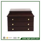 贅沢で装飾的な木の宝石類の収納箱