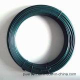 Fio revestido de /Green do fio do PVC/fio do gancho
