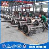 Pólo concreto elétrico que faz a planta de produção da máquina