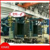 Doppelte Hebevorrichtung-Spinner-Aufhängungs-Granaliengebläse-Maschine für schweren Gang