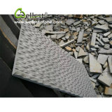 Basalto nero con le mattonelle di rivestimento spazzolate scalpello per pavimentare