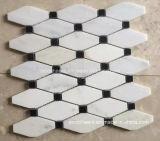 Mattonelle di mosaico di marmo bianche di vendita calde