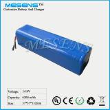 14.8V 6200mAh Li-Ionbatterie-Satz-Qualität