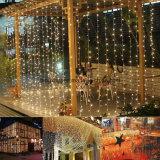 ホームクリスマス・パーティの結婚式の庭の装飾のための3m*3m LEDのカーテンストリングライト