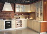 Gebouwde Keukenkast van de Verglazing van de Koffie van de esdoorn de Stevige Houten