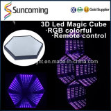 3D Infinity DIY Etapa Decor luz LED de pared
