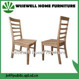 Cadeira de sala de jantar de madeira de pinho em cor branca (WC-431)