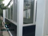Chambre préfabriquée détachable de conteneur avec le guichet en verre