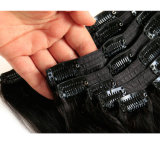 Remy Hair Extension에 도매 100 Human Hair Extension Natural Black Color Clip