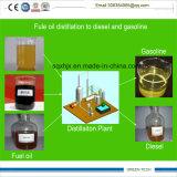 aktualisierte Technologie 5 Tonnen-überschüssiges Öl-Abfallverwertungsanlagezum Diesel