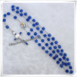 O azul religioso por atacado perla o fabricante do rosário dos grânulos de oração (IO-cr270)