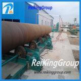 Máquina de acero del chorreo con granalla de la pared externa del tanque de petróleo